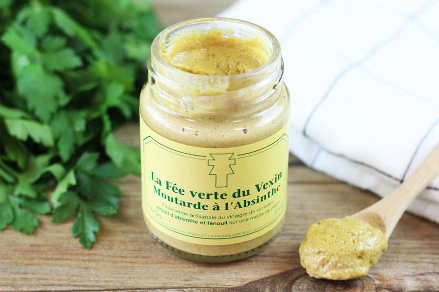 Moutarde La Fée Verte du Vexin à l'Absinthe - Ferme de la Distillerie - La Ruche qui dit Oui ! à la maison