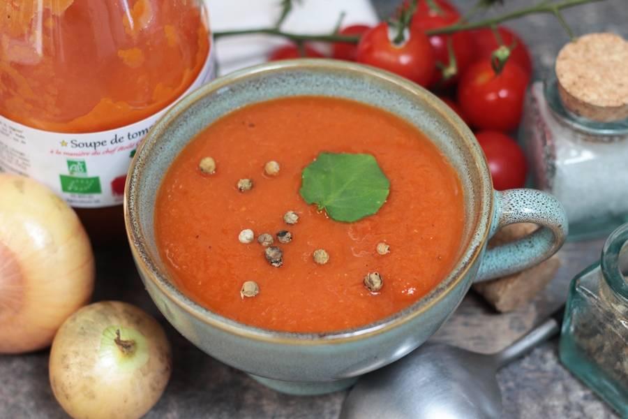 Soupe de tomate BIO - Conserverie coopérative de Marcoussis - La Ruche qui dit Oui ! à la maison
