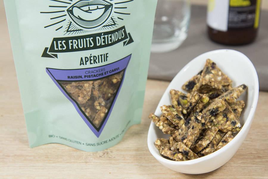 Crackers Raisins de Corinthe Pistaches BIO - Les Fruits Détendus - La Ruche qui dit Oui ! à la maison