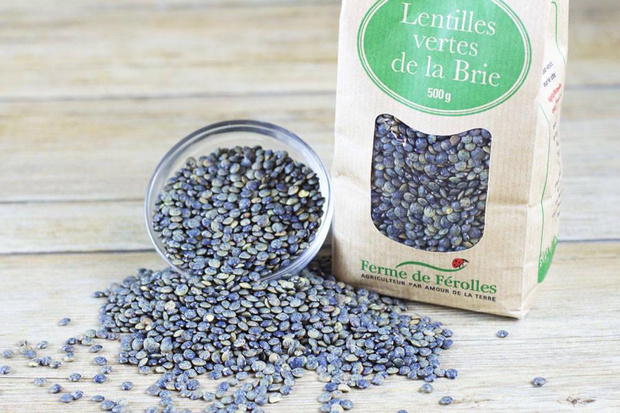 Lentilles vertes de la Brie (500g) - Ferme de Férolles - La Ruche qui dit Oui ! à la maison