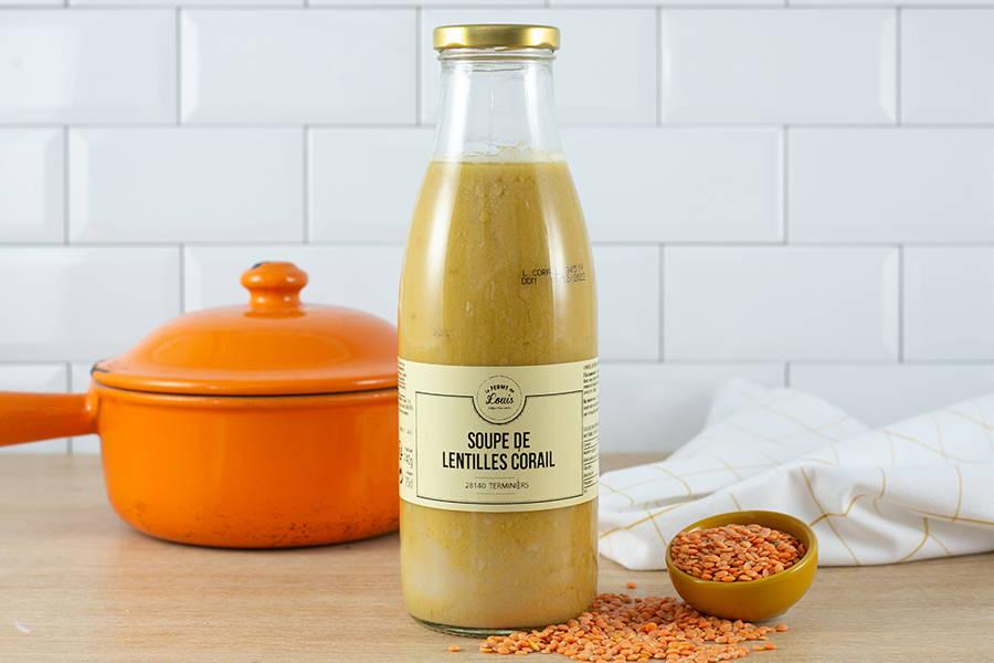 Soupe de lentilles corail - Ferme de Louis - La Ruche qui dit Oui ! à la maison