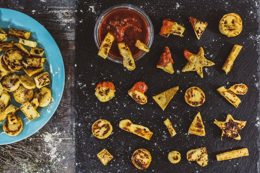 Panisses au thym et sauce tomatée - La Ruche Mama - La Ruche qui dit Oui ! à la maison