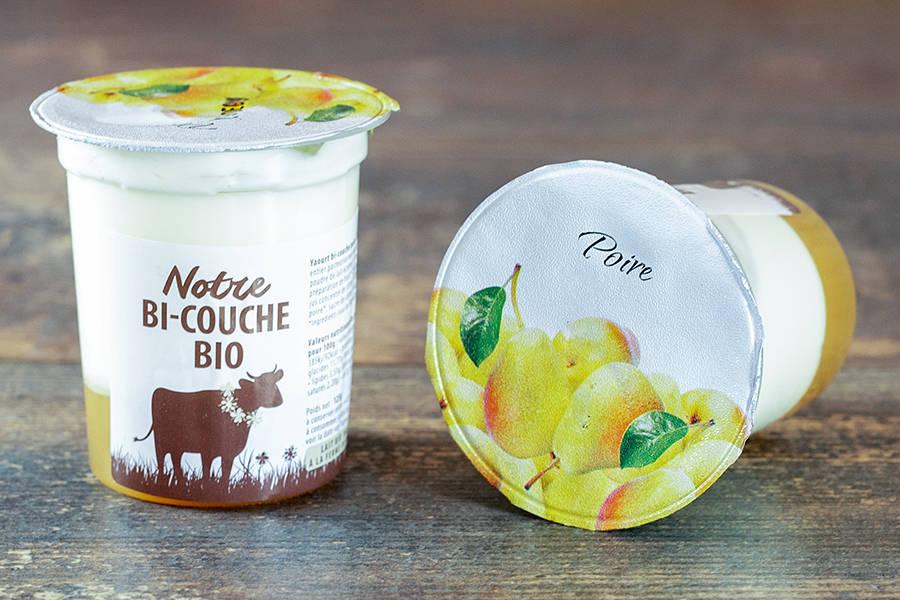 Yaourt bi-couche poire BIO - La Fromentellerie - La Ruche qui dit Oui ! à la maison