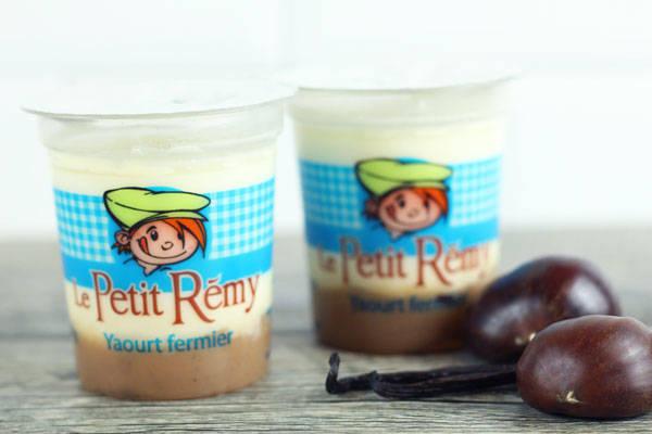 Yaourt fermier bicouche vanille et crème de marron - Ferme du petit Rémy