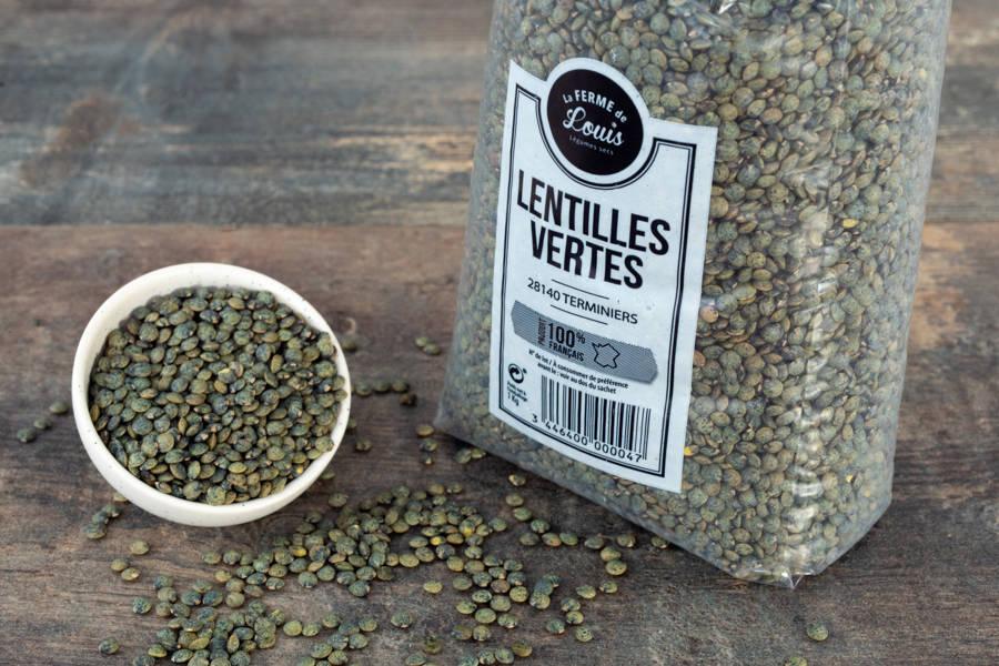 Lentilles vertes 500g - Ferme de Louis - La Ruche qui dit Oui ! à la maison