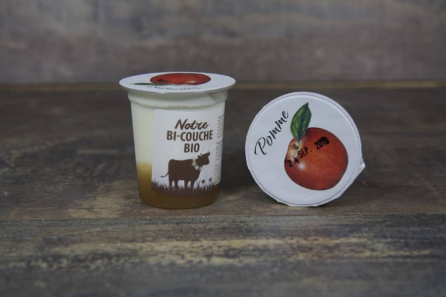 Yaourt bi-couche pomme BIO - La Fromentellerie - La Ruche qui dit Oui ! à la maison