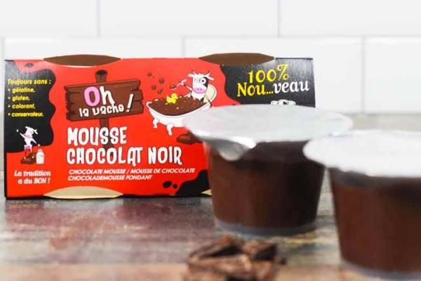 Duo de mousse au chocolat noir - Oh la Vache