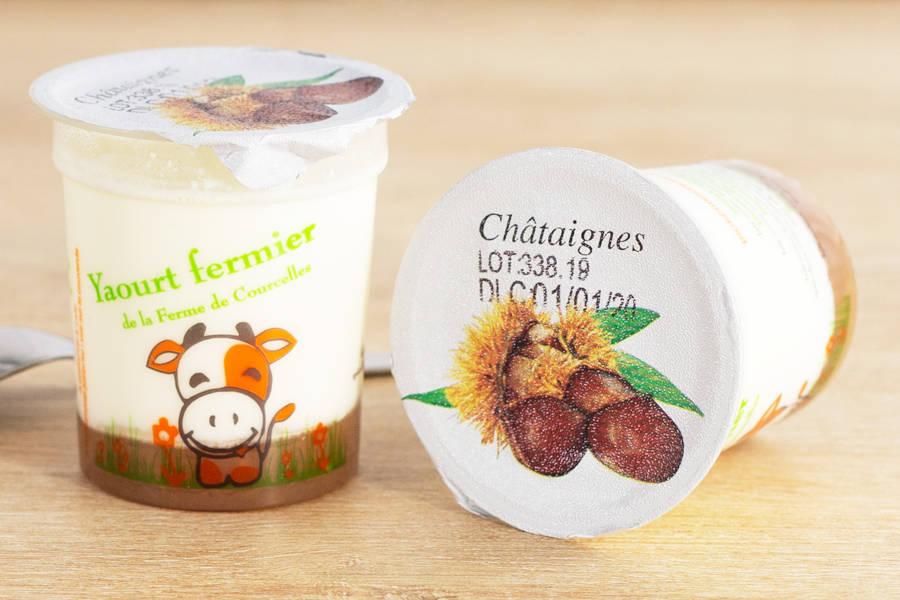 Yaourt à la crème de marron - Ferme de Courcelles - La Ruche qui dit Oui ! à la maison