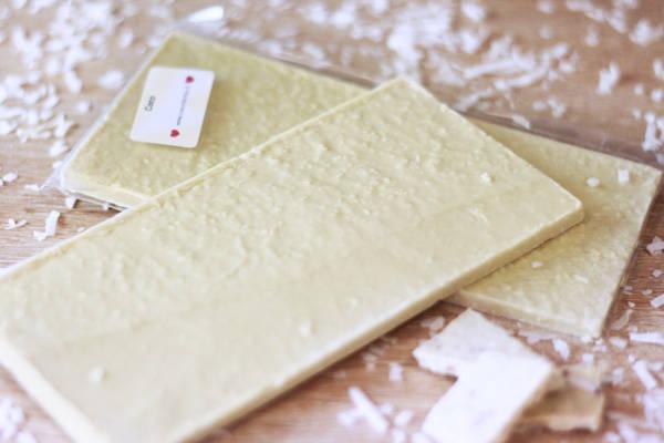 Chocolat Blanc coco BIO - Coeur de Choc - Le Comptoir Local