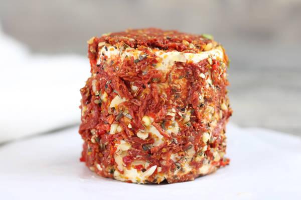 Grand crottin de chèvre Bruschetta - L'enclos des chevrettes