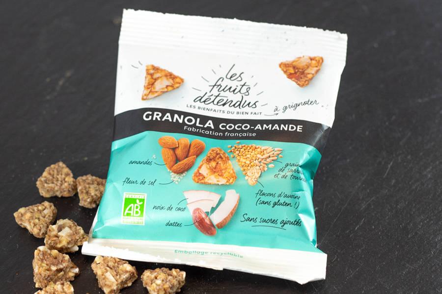En-cas Granola Coco Amande BIO - Les Fruits Détendus - La Ruche qui dit Oui ! à la maison