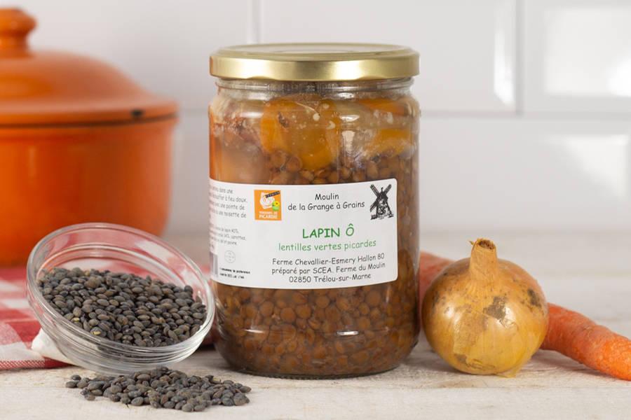 Lapin et lentilles vertes picardes - La Grange à grains - La Ruche qui dit Oui ! à la maison