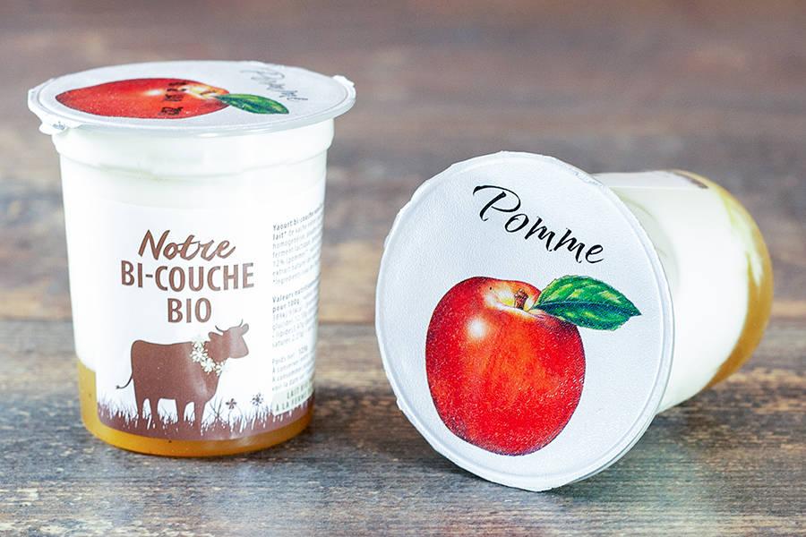 Yaourt bi-couche pomme vanille  BIO - La Fromentellerie - La Ruche qui dit Oui ! à la maison