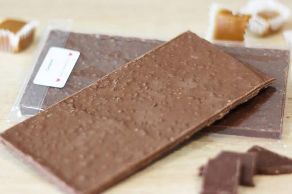 Chocolat Lait caramel BIO - Coeur de Choc - Le Comptoir Local