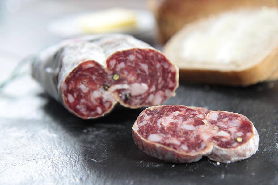 Saucisson de montagne pur porc 200g - Ferme Elizaldia - La Ruche qui dit Oui ! à la maison