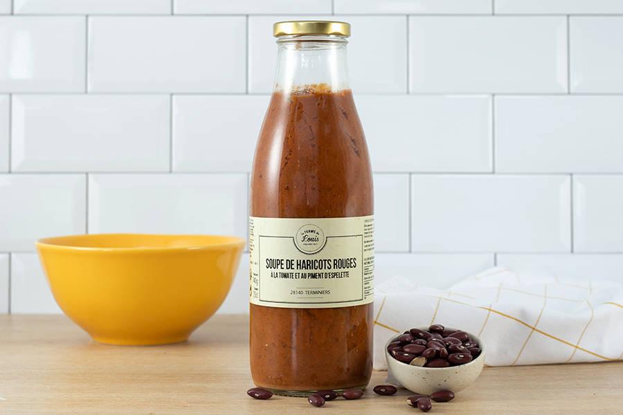 Soupe de haricots rouges au Piment d'Espelette - Ferme de Louis - La Ruche qui dit Oui ! à la maison