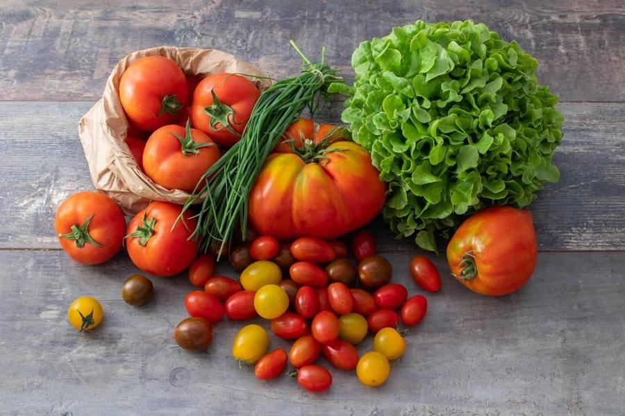 Panier tomates - Le Potager d'Olivier - La Ruche qui dit Oui ! à la maison