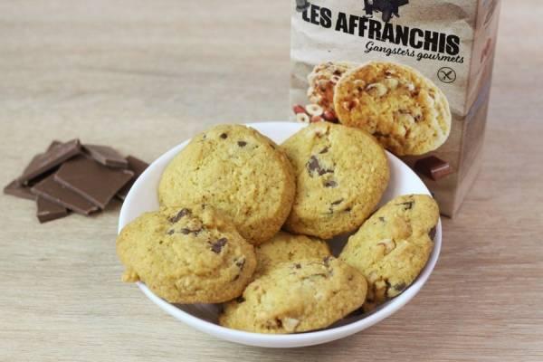 Cookies sans gluten chocolat au lait et noisettes du Piémont - Les Affranchis