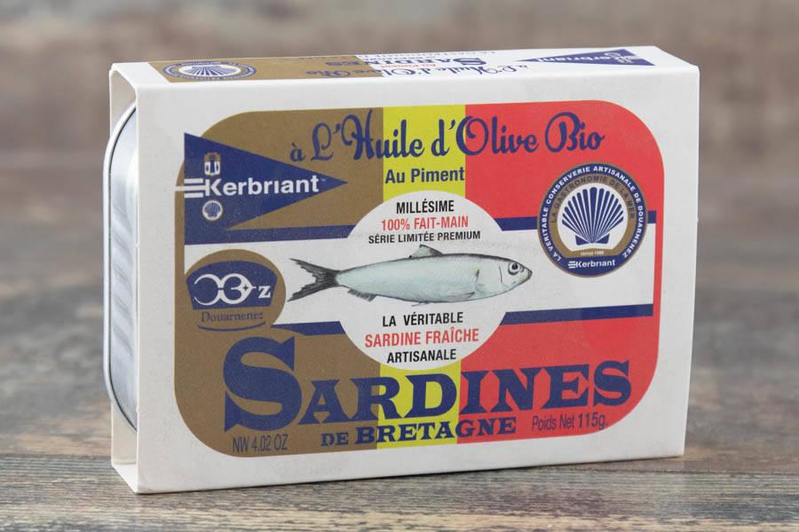 Sardines à l'huile d'olive bio et piment - Conserverie artisanale Kerbriant - La Ruche qui dit Oui ! à la maison