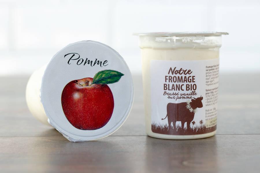 Fromage blanc BIO (vanille/pomme) - La Fromentellerie - La Ruche qui dit Oui ! à la maison