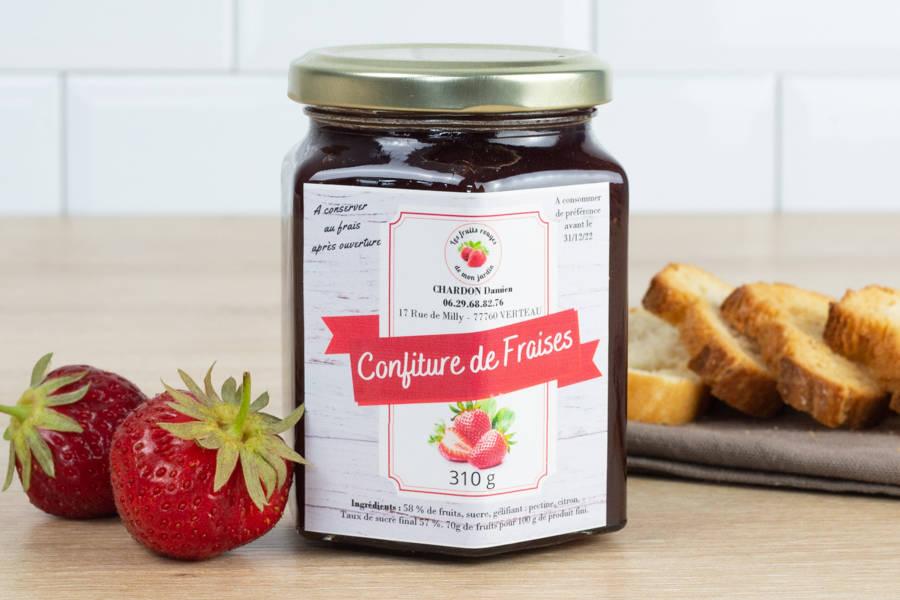 Confiture de fraise - Les Fruits Rouges de mon Jardin - La Ruche qui dit Oui ! à la maison