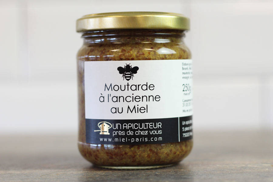 Moutarde à l'ancienne au miel - Un apiculteur près de chez vous - La Ruche qui dit Oui ! à la maison