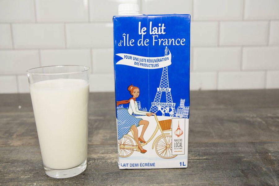 Lait demi-écrémé d'Île-de-France U.H.T. - Ferme de Viltain - La Ruche qui dit Oui ! à la maison