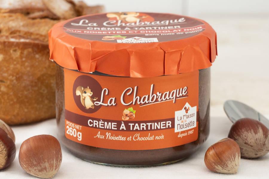 La Chabraque - Crème à tartiner chocolat noir - La Maison de la Noisette - La Ruche qui dit Oui ! à la maison