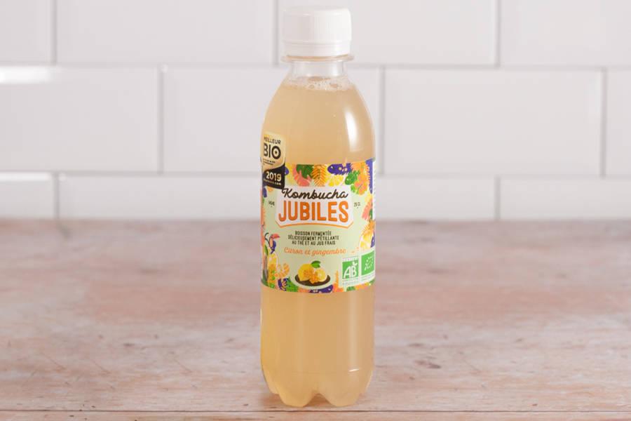 Kombucha thé vert, citron, gingembre- 25 cl - Jubiles - La Ruche qui dit Oui ! à la maison