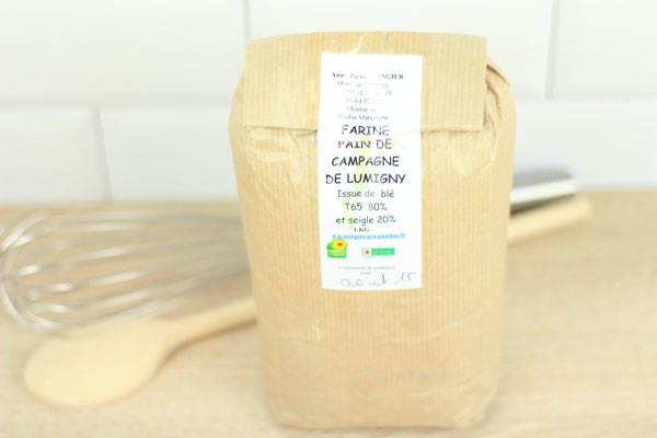 Farine pain de campagne de Lumigny 1kg - Ferme de Grand'Maison