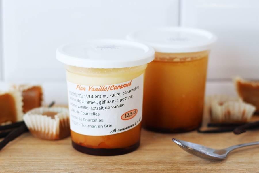 Flan vanille caramel - Ferme de Courcelles - La Ruche qui dit Oui ! à la maison