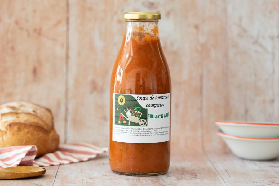 Soupe de Tomate Courgette - Conserverie de la cueillette Varet - La Ruche qui dit Oui ! à la maison