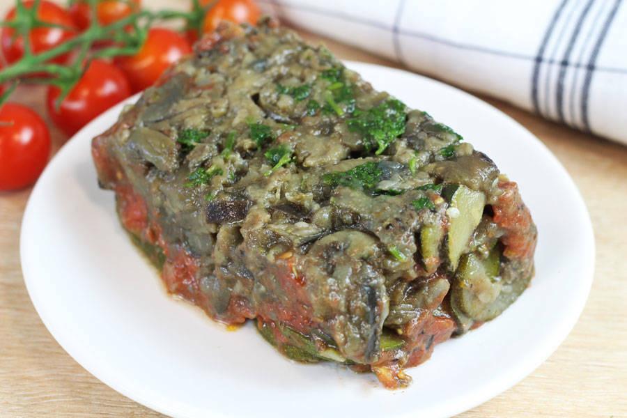 Terrine de légumes marinés, tapenade et confit de tomates - Entre Saveur et Jardin - La Ruche qui dit Oui ! à la maison