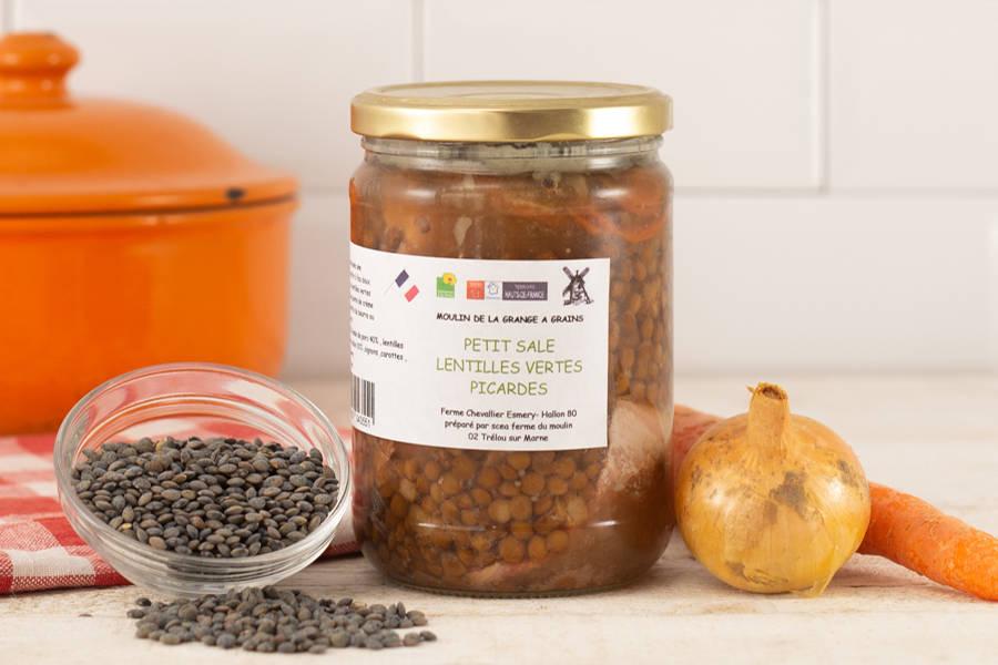 Petit salé et lentilles vertes picardes - La Grange à grains - La Ruche qui dit Oui ! à la maison