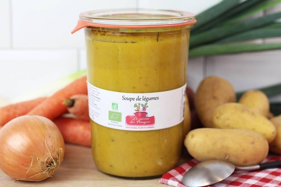 Soupe de légumes - grand format BIO - Conserverie coopérative de Marcoussis - La Ruche qui dit Oui ! à la maison