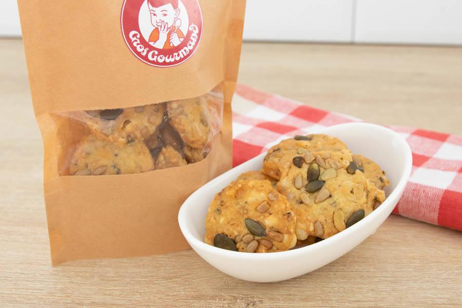 Crackers fromages & graines - Gros Gourmand - La Ruche qui dit Oui ! à la maison