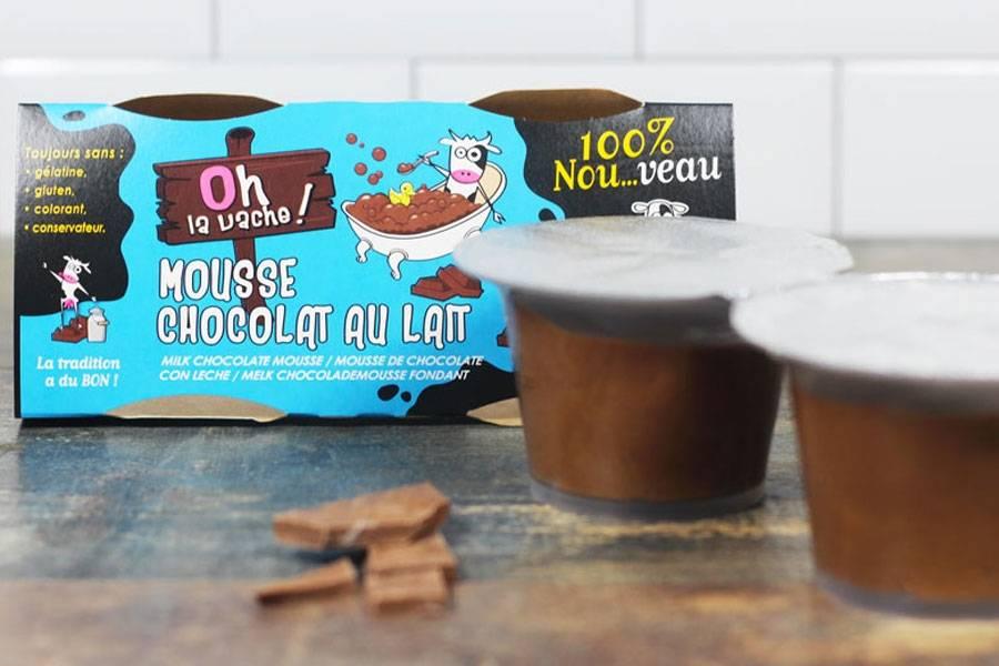 Duo de mousse au chocolat au lait - Oh la Vache - La Ruche qui dit Oui ! à la maison