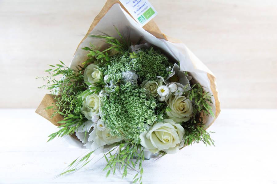 Petit bouquet blanc BIO - Fleurs de Cocagne - La Ruche qui dit Oui ! à la maison