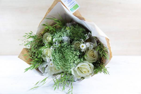 Petit bouquet blanc BIO - Fleurs de Cocagne