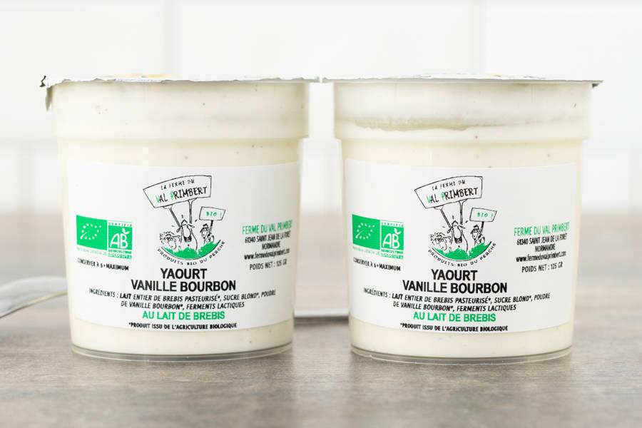 Yaourt à la vanille - lait entier de brebis - Ferme du Val Primbert - La Ruche qui dit Oui ! à la maison