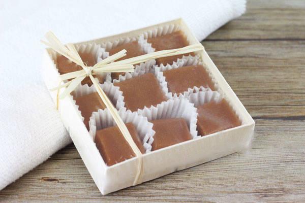 Caramels nature boite de 9 - Les Nicettes