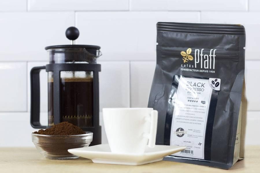 Black Expresso - Grains - Cafés Pfaff - La Ruche qui dit Oui ! à la maison