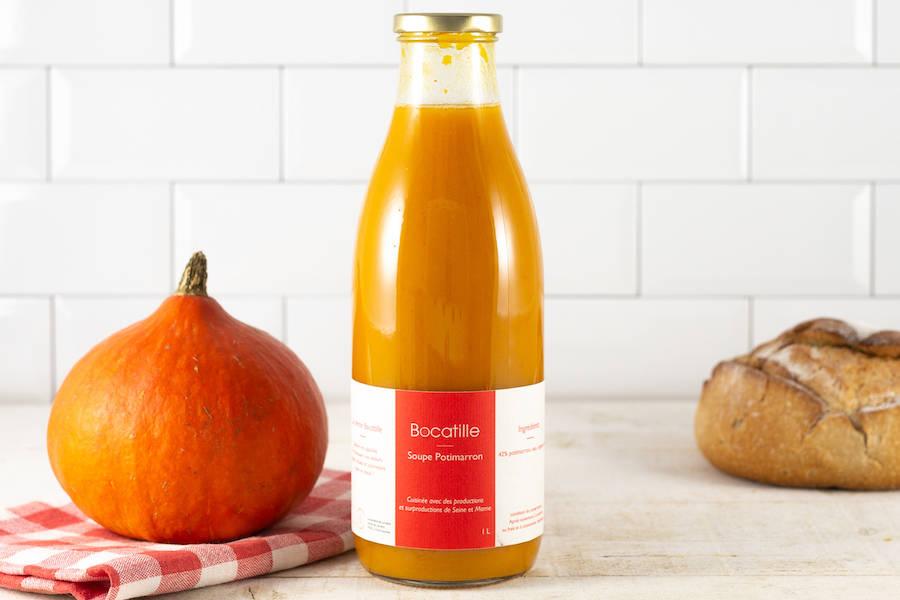 Soupe de Potimarron 100cL - Conserverie de Larnière - La Ruche qui dit Oui ! à la maison