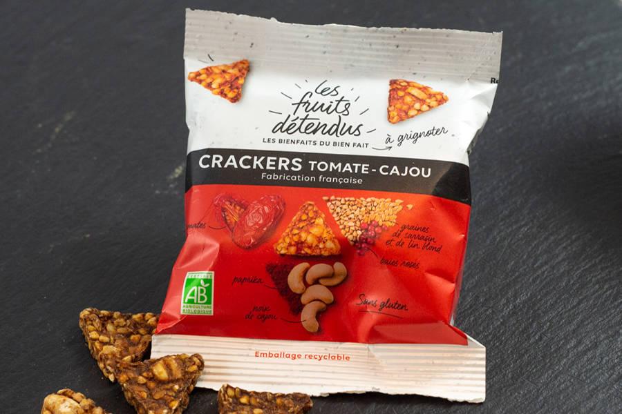 Crackers Tomate-Cajou BIO - Les Fruits Détendus - La Ruche qui dit Oui ! à la maison