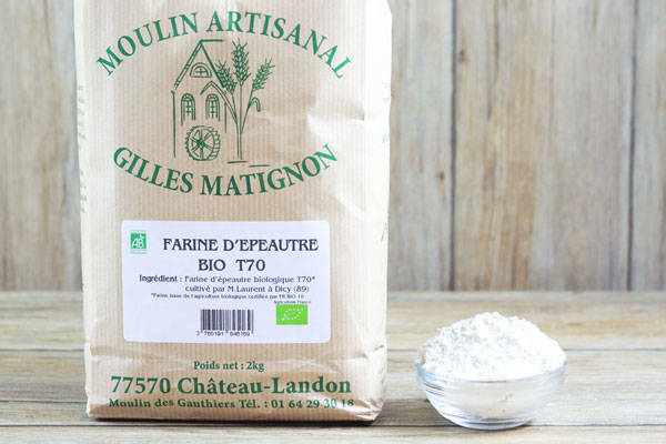 Farine d'épeautre BIO T70  - Moulin artisanal Gilles Matignon