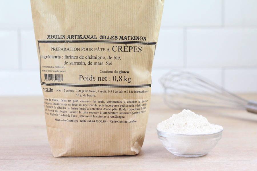 Préparation pour pâte à crêpes - Moulin artisanal Gilles Matignon - La Ruche qui dit Oui ! à la maison
