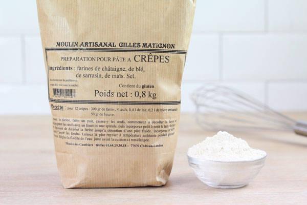 Préparation pour pâte à crêpes - Moulin artisanal Gilles Matignon