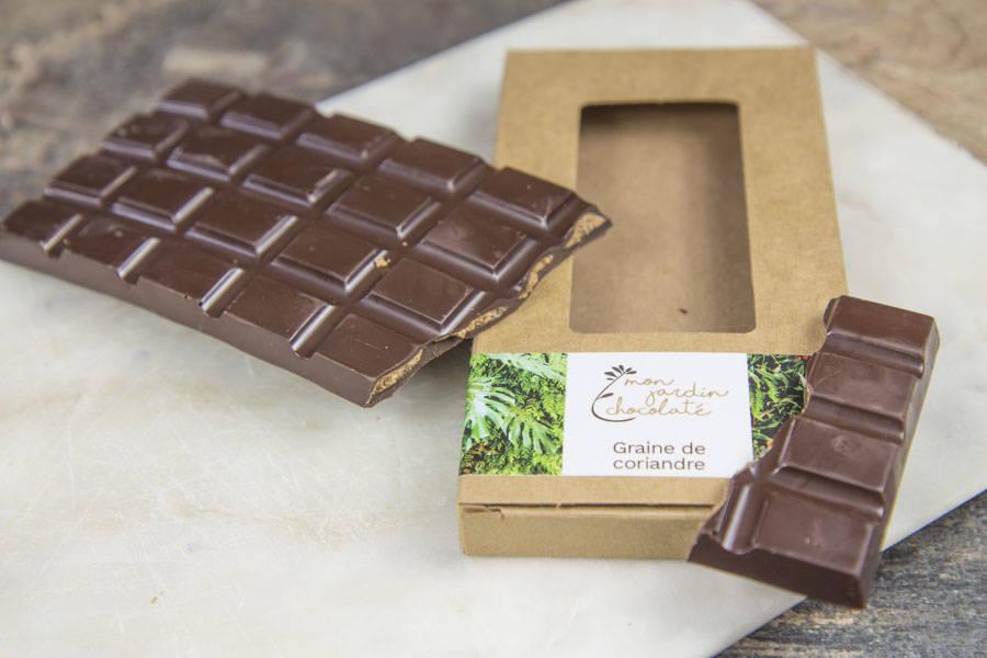Tablette pralinée (graine de coriandre) - Mon Jardin Chocolaté - La Ruche qui dit Oui ! à la maison