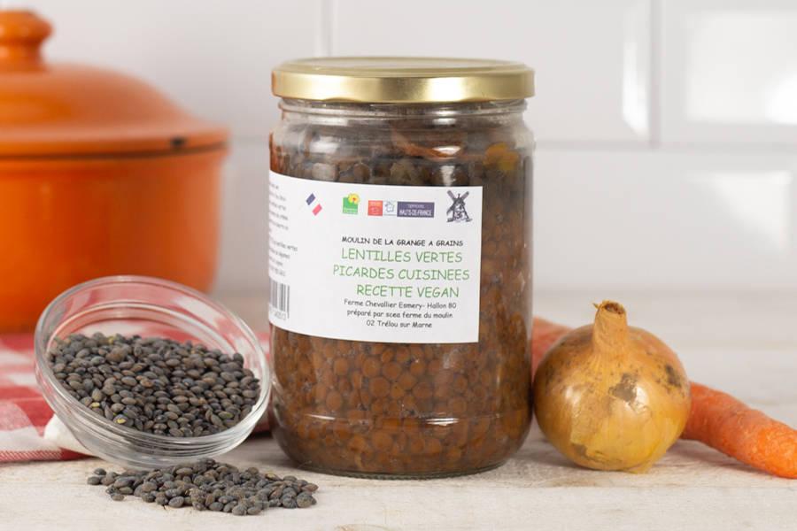 Lentilles vertes cuisinées - La Grange à grains - La Ruche qui dit Oui ! à la maison
