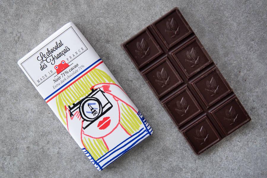 Chocolat noir 71% mini tablette- Fille photo BIO - Le Chocolat des Français - La Ruche qui dit Oui ! à la maison